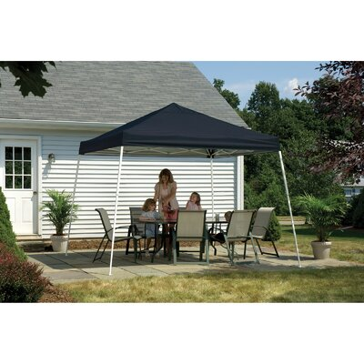 ShelterLogic 12' x 12' Pop-up Canopy with Slant Legs and Black Roller Bag
