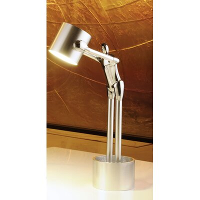 """Man2Max Thick Out of The Box Artistic LED 18.5"""" H Table Lamp"""