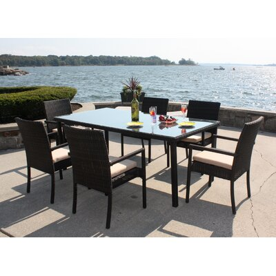 ElanaMar Designs Captiva 7 Piece Dining Set with Cushions