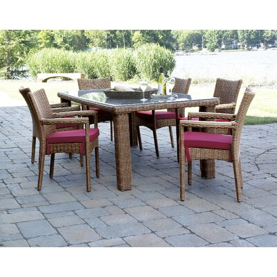 ElanaMar Designs Grand Cayman 7 Piece Dining Set with Cushions