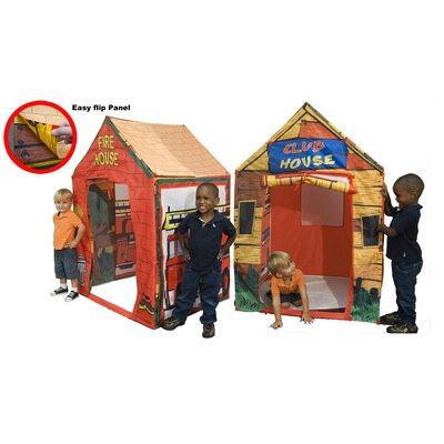 Kid's Adventure 2 in 1 Fire Station / Club House Play Tent