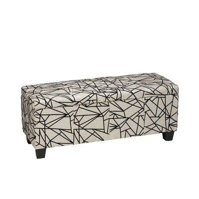 Cortesi Home Ziggy Storage Ottoman