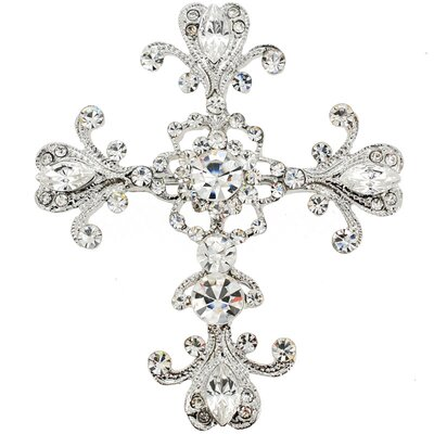 Montana Cross Crystal Pin Brooch Pendant