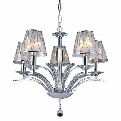 Bromi Design Douglas 5 Light Crystal Chandelier