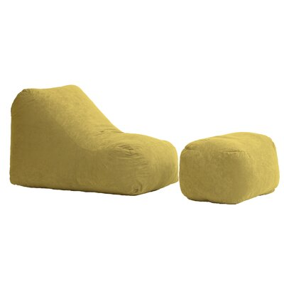 Fuf Wedge and Ottoman Bean Bag Lounger