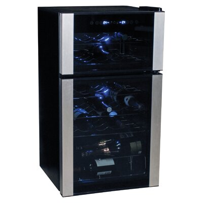 Koolatron 29-Bottle Dual Zone Wine Refrigerator
