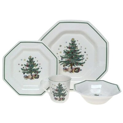 <strong>Nikko Ceramics</strong> Christmastime 4 Piece Place Setting