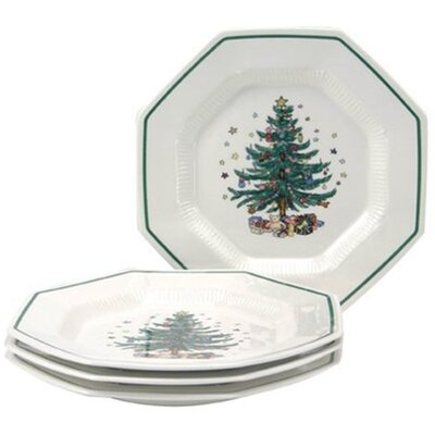 "Nikko Ceramics Christmastime 10.75"" Dinner Plate (Set of 4)"