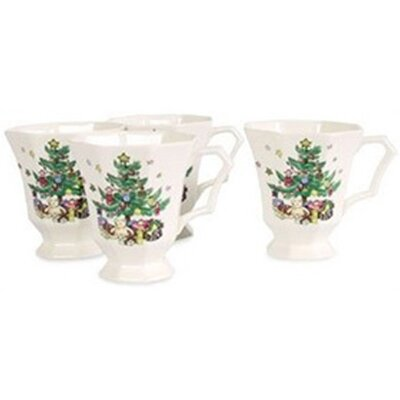 Nikko Ceramics Christmastime 13 oz. Mug (Set of 4)