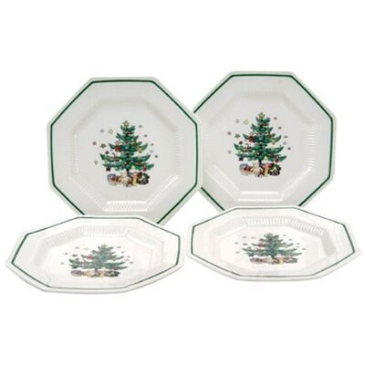 "Nikko Ceramics Christmastime 8.25"" Salad Plate (Set of 4)"