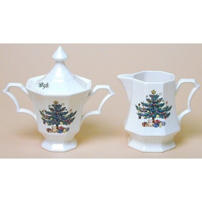 Nikko Ceramics Christmastime Sugar and Creamer Set