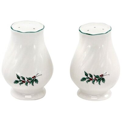 Nikko Ceramics Happy Holidays Salt and Pepper Set
