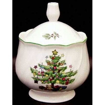 Nikko Ceramics Happy Holidays Sugar Bowl with Lid