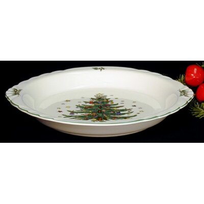 "Nikko Ceramics Christmas 10"" Pie Plate"