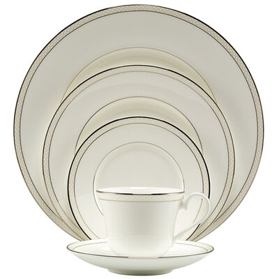 Platinum Beaded Pearl 5 Piece Place Setting