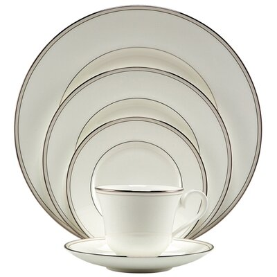 Nikko Ceramics Platinum Pearl 5 Piece Place Setting
