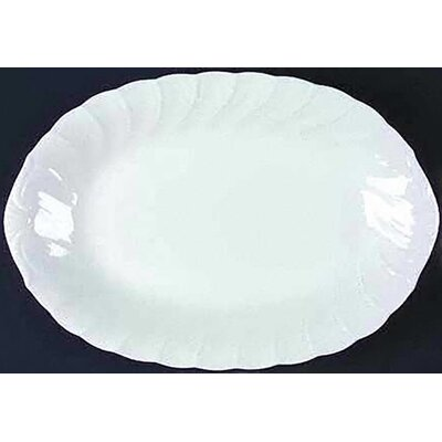 "Nikko Ceramics White Satin 14"" Oval Platter"