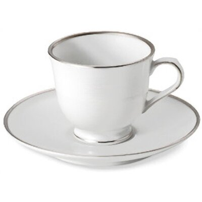 Nikko Ceramics Sentiments Band of Platinum Demitasse Cup and Saucer