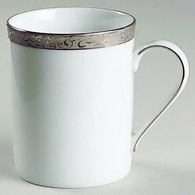 Nikko Ceramics Sentiments Platinum Filigree Mug
