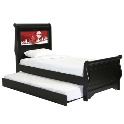 LightHeaded Beds Edgewood Sleigh Bed with Trundle, Santa and Dolphins Interchangeable HeadLightz