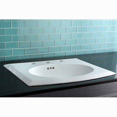 Courtyard China Countertop Bathroom Sink - LBTS22187W38