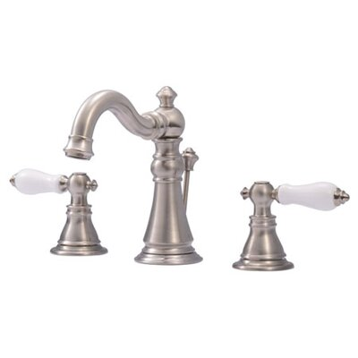 American Patriot Double Handle Widespread Bathroom Faucet with ABS Pop-Up Drain - FS197