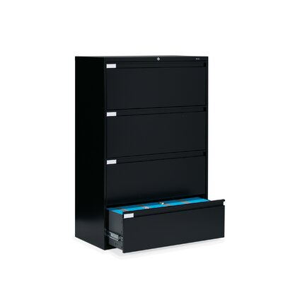 "Global Total Office 9300 Series 42"" W Four-Drawer Lateral File"