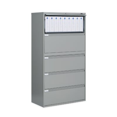 "Global Total Office 9300 Series 42"" W Five-Drawer Lateral File"