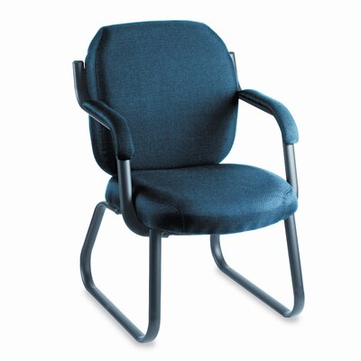 Global Total Office Mid-Back Commerce Series Guest Arm Office Chair with Sled Base