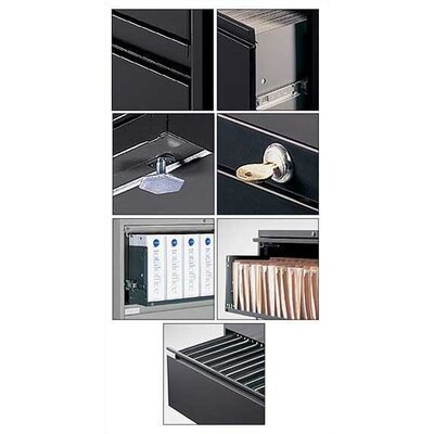 "Global Total Office 9300 Series 36"" W Five-Drawer Lateral File"