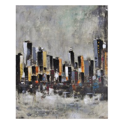 Ren-Wil Metro Heights by Elias Munoz Painting Print on Canvas