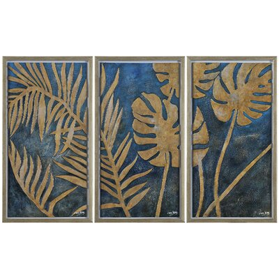 Foliage by Liza Stones 3 Piece Framed Original Painting Set (Set of 3)
