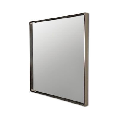 Rectangular Wall Mirror with Satin Nickel Plating