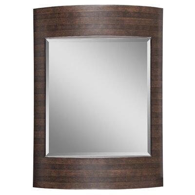 Ren-Wil Beveled Mirror in Brown and Dark Brown