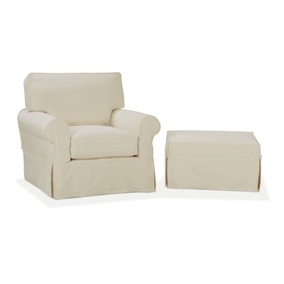 nantucket slip cover suite arm chair and ottoman wayfair