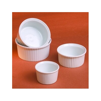 Classic White 3 oz. Pleated Ramekin