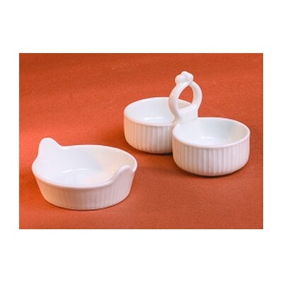 Pillivuyt Pleated Salt Cellar