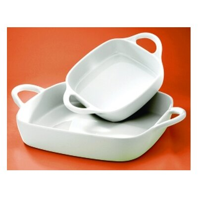 Pillivuyt Eden 40 oz. Small Square Baker
