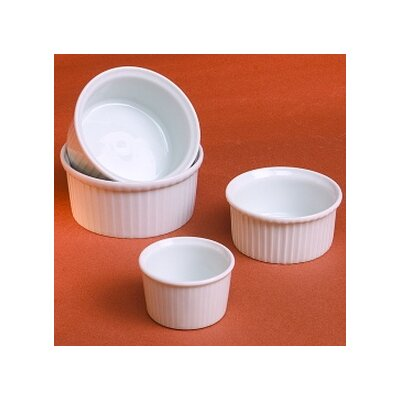 Pillivuyt Classic White 2 oz. Pleated Ramekin