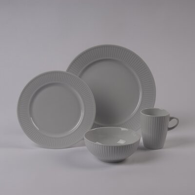 Pillivuyt Plisse Rimless Bowl 4 Piece Dinnerware Collection