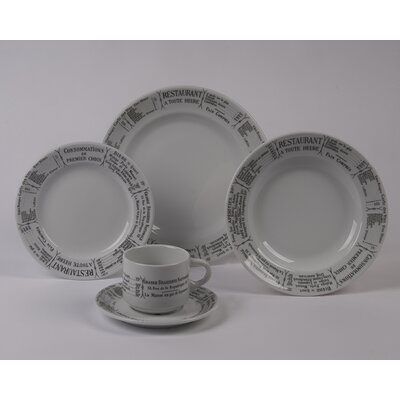 Pillivuyt Brasserie Rimmed Bowl 5 Piece Dinnerware Collection