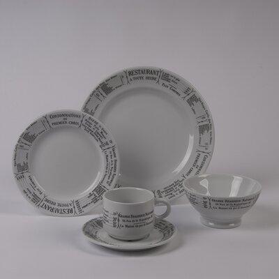 Pillivuyt Brasserie 5 Piece Dinnerware Collection