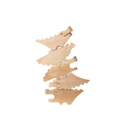 Areaware Stackable Wooden Crocodiles (Set of 5)