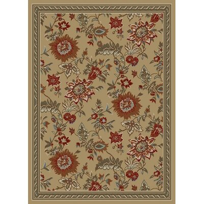 Royal Beige Floral Rug