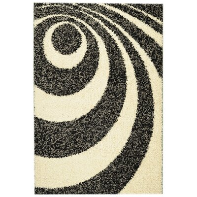 Ultimate Shaggy Dark Red Abstract Rug