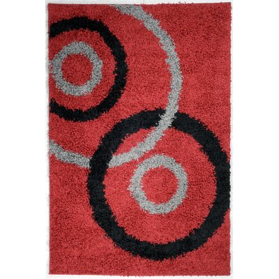 Ultimate Shaggy Dark Red Dazzle Rug