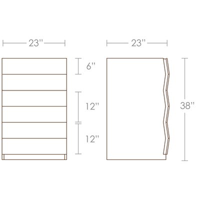Brave Space Design Planar 3 Drawer Nighstand