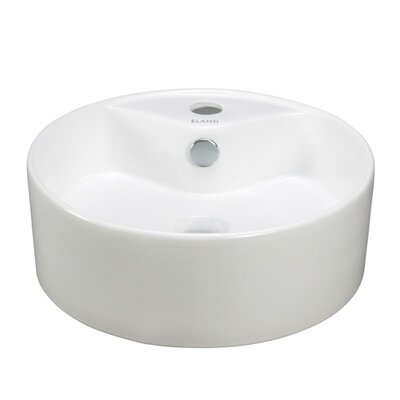 Porcelain Round Above Counter Bowl Sink - EC9869