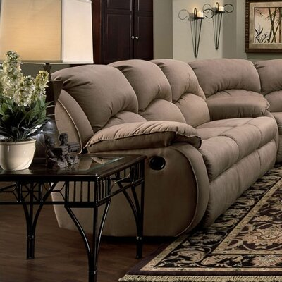 Recline Designs Gabriella Microsuede Queen Sleeper Sofa