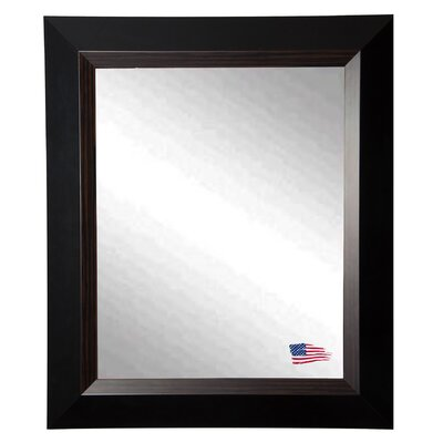 Brown Grain Black Wall Mirror